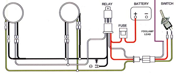 fog lamp relay wiring trusted schematics wiring diagrams u2022 rh bestbooksrichtreasures com