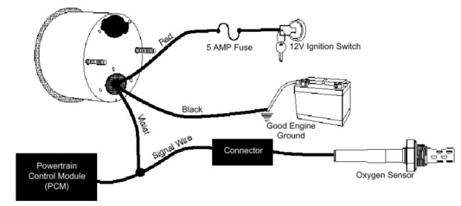 Wiring Diagram For Marine Fuel Gauge : Air fuel ratio gauge