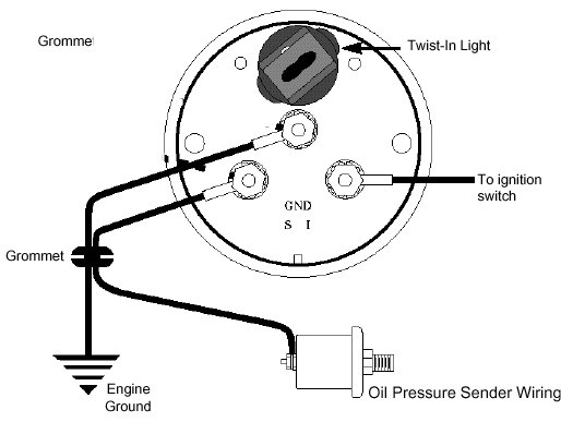 Oilpressure on auto meter phantom gauge wiring diagram