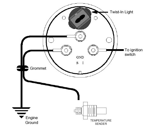 Transtemp on auto gauge tachometer wiring diagram
